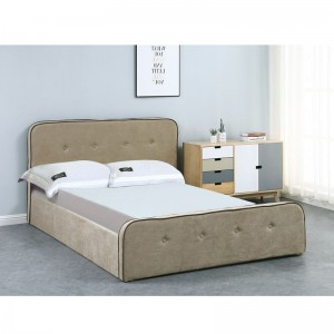 ACCORD Duo Κρεβάτι (για στρώμα 150x200cm) Ύφ.Μπεζ/Αποθ.Χώρος