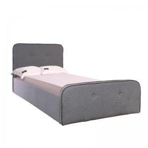 ACCORD Duo Κρεβάτι (για στρώμα 90x190cm) Ύφ.Γκρι/Αποθ.Χώρος