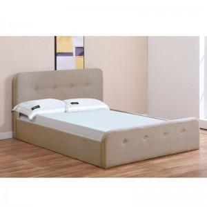 ACCORD Κρεβάτι (για στρώμα 150x200cm) Ύφασμα Μπεζ/Αποθ.Χώρος