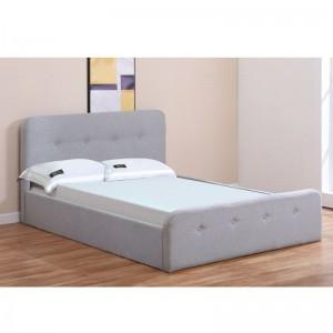 ACCORD Κρεβάτι (για στρώμα 150x200cm) Ύφασμα Γκρι/Αποθ.Χώρος