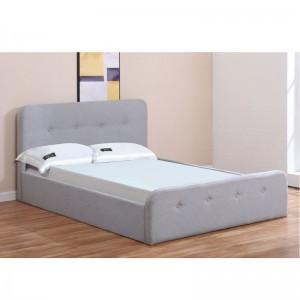 ACCORD Κρεβάτι (για στρώμα 160x200cm) Ύφασμα Γκρι/Αποθ.Χώρος