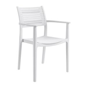 AKRON Πολυθρόνα PP-UV Άσπρο