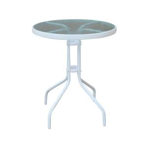 BALENO Τραπέζι Φ60cm Μεταλλικό Άσπρο
