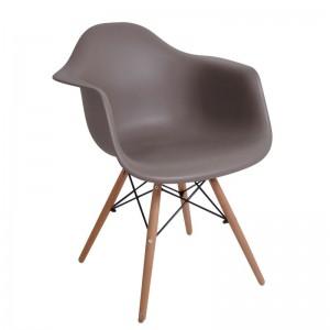 ALEA Wood πολυθρόνα Ξύλο/PP Sand Beige / Pro