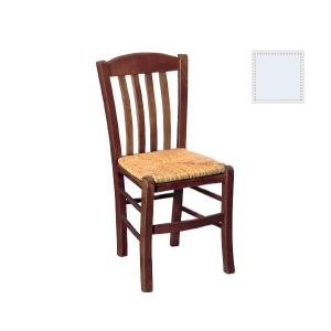 CASA Καρέκλα Εμποτισμός Λάκα Άσπρο