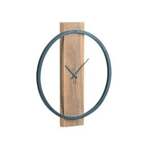 CLOCK-1 Ρολόι Τοίχου Φ45x4cm Ακακία Φυσικό/Μεταλ.Μαύρο