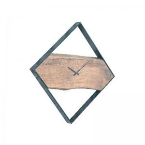 CLOCK-2 Ρολόι Τοίχου 45x4x45cm Ακακία Φυσικό/Μεταλ.Μαύρο