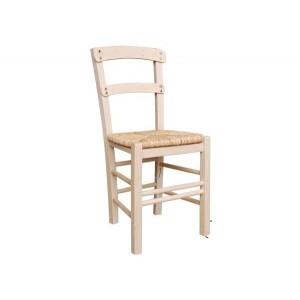 ΚΥΘΝΟΣ Καρέκλα Άβαφη με Ψάθα Αβίδωτη
