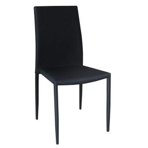 REGINA καρέκλα 6pcs/ctn Ύφασμα αδιάβροχο Μαύρο