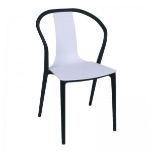 VISION PP Καρέκλα Άσπρο/Μαύρο