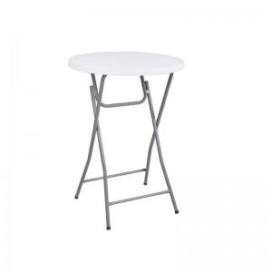 BLOW Τραπέζι Bar Φ80cm Πτυσ/νο Άσπρο