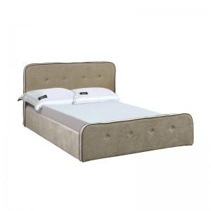 ACCORD Duo Κρεβάτι (για στρώμα 90x190cm) Ύφασμα Μπεζ/Αποθ.Χώρος