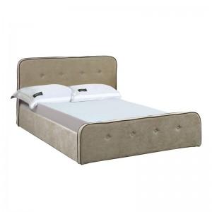 ACCORD Duo Κρεβάτι (για στρώμα160x200cm) Ύφασμα Μπεζ/Αποθ.Χώρος