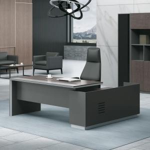 ADVANCE Γραφείο -Δεξ-180x160cm Σκ.Καρυδί/Γκρι