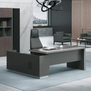 ADVANCE Γραφείο -Δεξ-240x160cm Σκ.Καρυδί/Γκρι