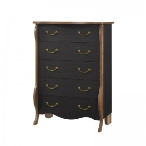 SCARLET Συρταριέρα 5-Συρτ.89x53x130 Antique Oak/Ebony Oak