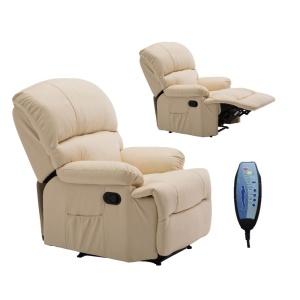 SPACE Πολυθρόνα Massage Pu Μπεζ