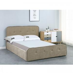 ACCORD Duo Κρεβάτι (για στρώμα 140x190cm) Ύφασμα Μπεζ/Αποθ.Χώρος