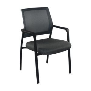 ASCO Πολυθρόνα Μαύρη/Ύφασμα Γκρι