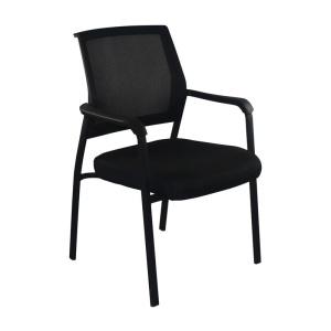 ASCO Πολυθρόνα Μαύρη/Ύφασμα Μαύρο
