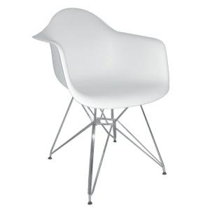 ALEA πολυθρόνα Χρώμιο/Πολυπροπυλένιο Άσπρο