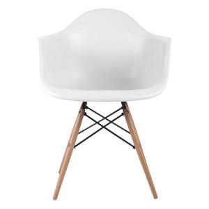 ALEA Wood πολυθρόνα Ξύλο/PP Άσπρο / Pro