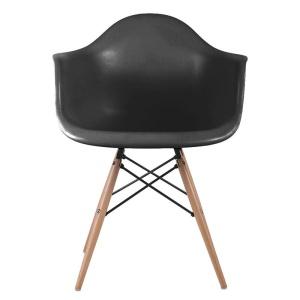ALEA Wood πολυθρόνα Ξύλο/PP Μαύρο / Pro