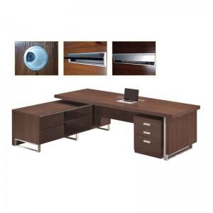 ALPINE Γραφείο -Αρ- 240x100/200x62cm Σκ.Καρυδί