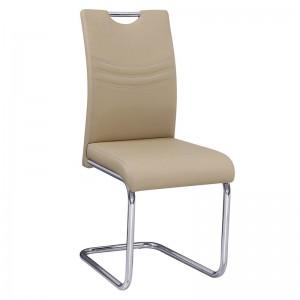 CROFT Καρέκλα Χρώμιο/Pu Ταμπά