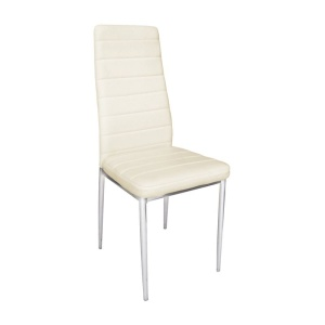 JETTA καρέκλα Χρώμιο/Pu Εκρού