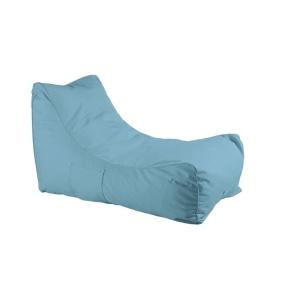 LAZY Πουφ ανάκλιντρο 100% Αδιάβροχο Ύφασμα Γαλάζιο
