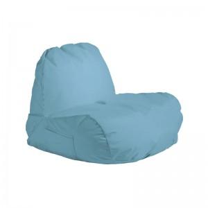POGO Πολυθρόνα Πουφ Ύφ.Γαλάζιο 100% Αδιάβροχο
