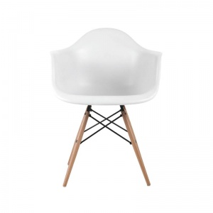 ALEA Wood *Unpacked* πολυθρόνα Ξύλο/ PP Άσπρο