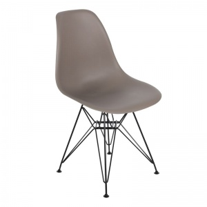 ART καρέκλα Steel Μαύρο / PP Sand Beige