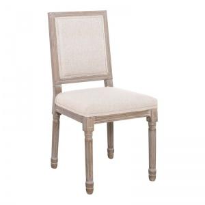 JAMESON Square Καρέκλα Decape/Ύφασμα Εκρού