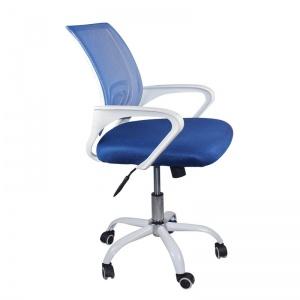 BF2101-SW Πολυθρόνα Γραφείου με ανάκλιση Άσπρο / Mesh Μπλε (Συσκ.2)
