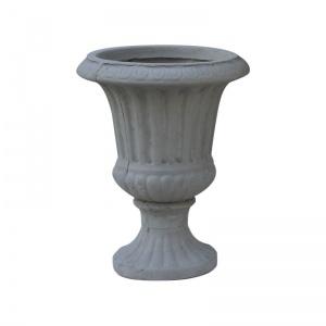 FLOWER POT-7  Φ40x51cm Cement Grey